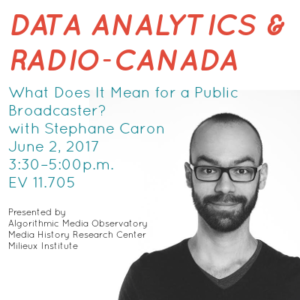 Poster for June 2 event with Stephane Caron