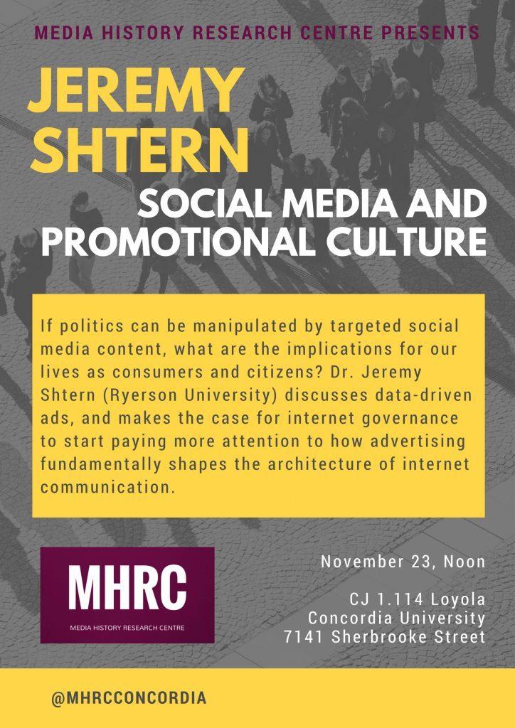 Jeremy Shtern event poster