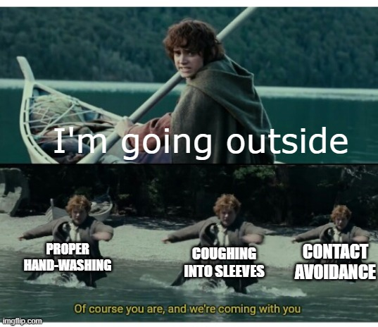 "Two-panel meme with images from the movie ""Lord of the rings"""