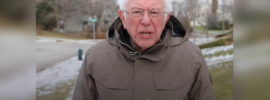 A meme of Bernie Sanders asking for meme analysis submissions